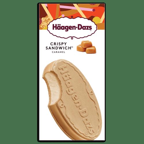 ข้อมูลโภชนาการ แคลอรี่ ฮาเก้นดาส-ไอศครีมคริสปี้แซนด์วิชรสคาราเมล-haagen-dazs-caramel-cream-crisp-sandwich