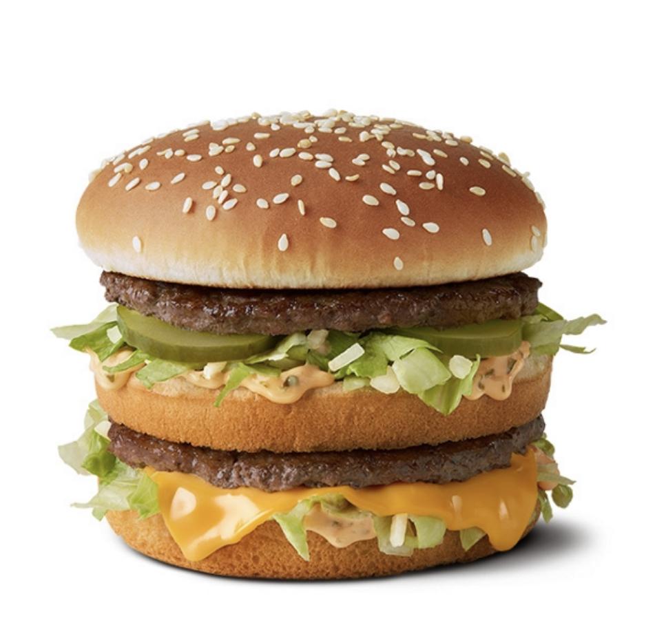 ข้อมูลโภชนาการ แคลอรี่ บิกแมค-big-mac