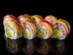 ข้อมูลโภชนาการ แคลอรี่ Rainbow-Roll-Sushi-rainbow-roll-sushi