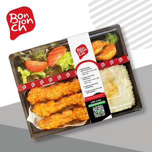 ข้อมูลโภชนาการ แคลอรี่ ชุดข้าวกล่องไก่บอนชอน--bonchon-chicken-box-