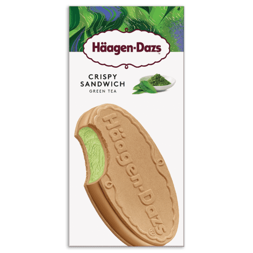 ข้อมูลโภชนาการ แคลอรี่ ฮาเก้นดาส-ไอศครีมคริสปี้แซนด์วิชรสชาเขียว-haagen-dazs-green-tea-cream-crisp-sandwich