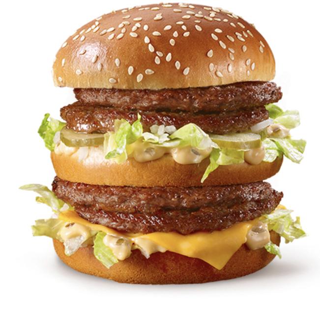 ข้อมูลโภชนาการ แคลอรี่ ดับเบิ้ล-บิกแมค-double-big-mac